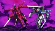 Sword Strike punches Aegis