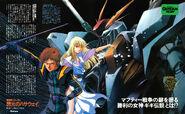 Hathaway Noa Gigi Andalucia RX-105 Ξ Gundam by Haruhiko Mikimoto Newtype 1990 October