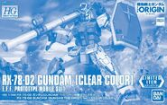HG Gundam (Gundam The Origin Ver.) -Clear Color-