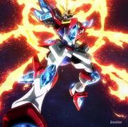 KMK-B01 Kamiki Burning Gundam (Island Wars) 01