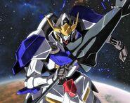 Gundam Barbatos in space