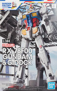 1-144 RX-78F00 Gundam & G-Dock