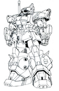 MS-06R-3S High Mobility Type Zaku Lineart