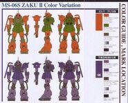 MS-06S Color Variation