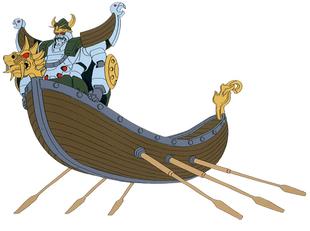 Docked with Viking Gundam