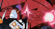 Nu Gundam attacks Musaka