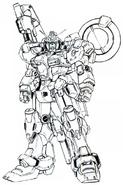 RX-78GP00 Gundam Blossom Lineart
