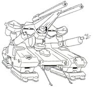 MA-115HT Union Realdo Hover Tank Double Barrel - Front View