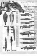 Gundam 00P Gundam Astraea Weapons Look