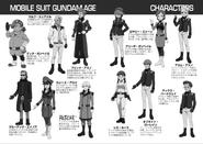 Novel Characters sheet 1