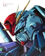 ZZ Gundam Head Illust