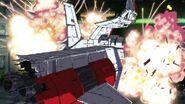 MSGUC-White Base destroyed