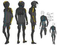 Hathaway noa 105 pilot suit concept art uchida