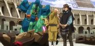 Daniel in episode 18 of Gundam Build Divers