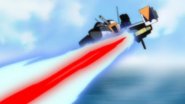 Skygrasper Launcher Striker Hyper Impulse Cannon Firing 01 (Seed HD Ep35)
