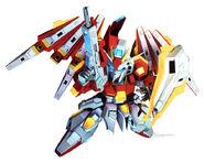 BN-876β Hot Scramble Gundam (MS Mode) (SD Gundam)