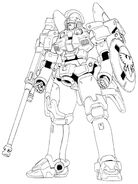 OZ-00MS Tallgeese Front View Lineart