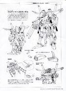 MSZ-010 ZZ Gundam Lineart 3