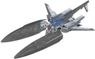 Docked with ZGMF-X10A Freedom Gundam
