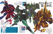 NewtypeMagazine Gundam ZZ NeoZeonMS by HirotoshiSano