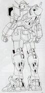 GN-000 - 0 Gundam - Back View Lineart