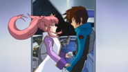 Kira and Lacus on the Eternal 01 (Seed HD Ep48)