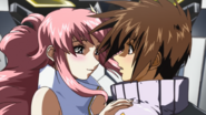 Lacus After Kissing Kira (Seed HD Ep34)
