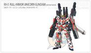 RX-0 Full Amor Unicorn Gundam Destroy Mode Web Entry