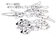 Lightning Gundam BWS BW Flight Mode top components