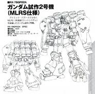 RX-78GP02A Gundam GP02A (Type-MLRS) lineart