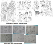 Victory Gundam Earlier Character Designs