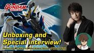 GUNDAM UNIVERSE Unboxing and Special interview! Featuring MR