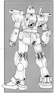 RGM-79N GM Custom - Back View Lineart