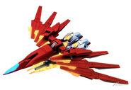 BN-876β Hot Scramble Gundam (MA Mode) (SD Gundam)