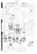 Victory Gundam Characters Lineart 06