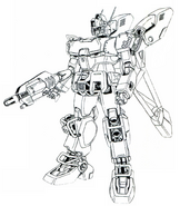 RX-79Ez-8 HMC Gundam Ez8 High Mobility Custom lineart