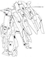 Lightning Gundam BWS BW rear lineart