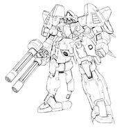 MMS-01 Serpent Front View Lineart