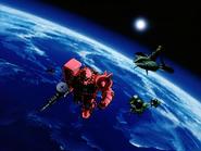 Mobile Suit Gundam Journey to Jaburo PS2 Cutscene 012 Char Zaku 2