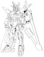 ZGMF-X19A Infinite Justice Gundam Lineart