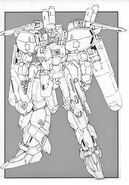 MSA-0011(Ext) - Ex-S Gundam - Front View Lineart
