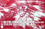 HGUC Full Armor Unicorn Gundam (Destroy Mode) Red Plated Frame Mechanical Clear Ver