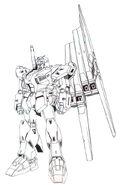 Mass Production Type ν Gundam Fin Funnel Lineart