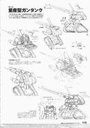 RX-75 Guntank Mass Production Type Lineart