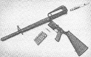 ArmaLite AR-10 disassembled