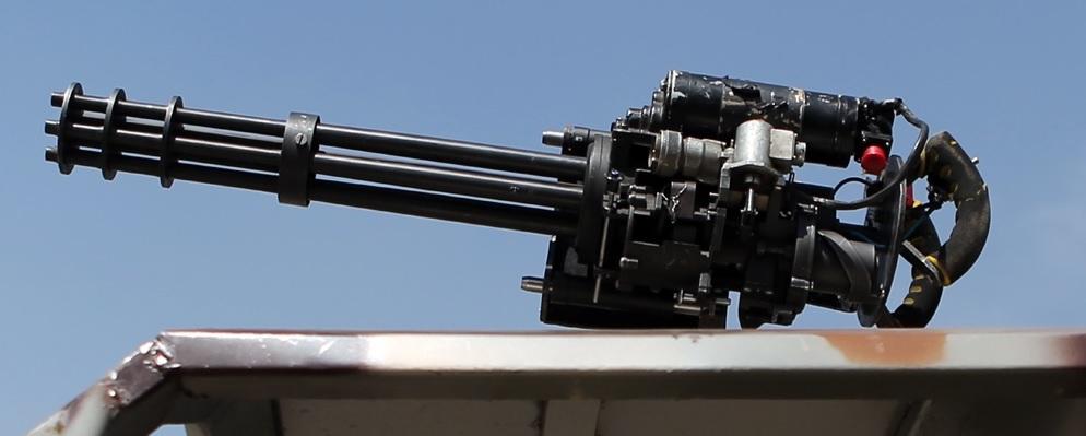 Akhgar machine gun