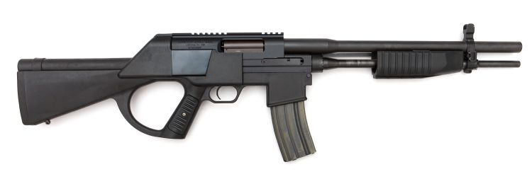 Crossfire combination gun