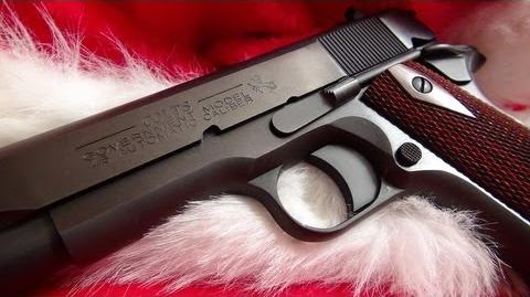 """Santa Claus Plays """"Jingle Bells"""" with the Colt 1911"""