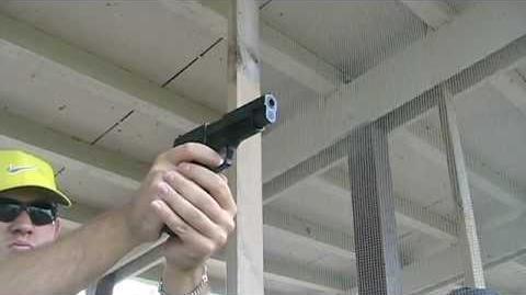 Firing the Sig Sauer P226 9mm Pistol