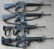 M16A1M16A2M4A1M16A4